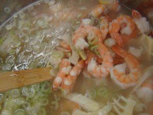 海老とたっぷりネギのスープ